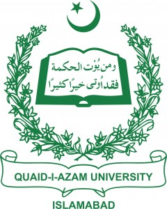 Quaid i azam university  admission form 2016