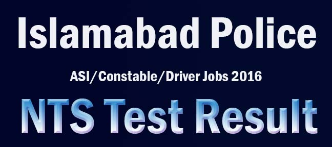 Islamabad Police Rapid response Force NTS Test Result Answer keys