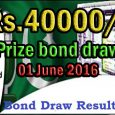 rs.40000 prize bond draw results
