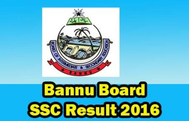 Bannu board SSC Result  2016