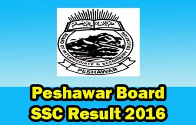 bise peshawar board 10th class result 2016