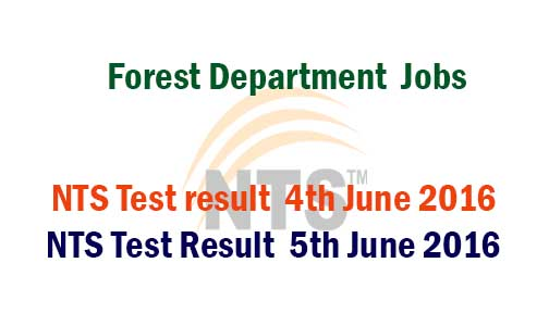 forest department nts test result 4th 5th june 2016