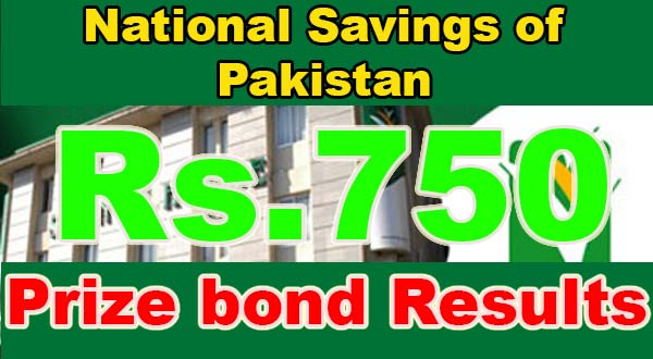 Check Prize bond 750 Draw Result Full list Online