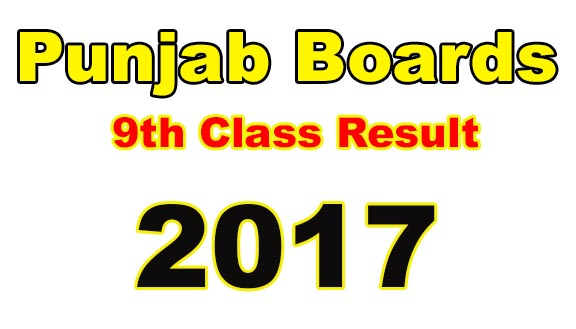 Punjab Bise SSC Part 1 9th Class Result 2017 on this page