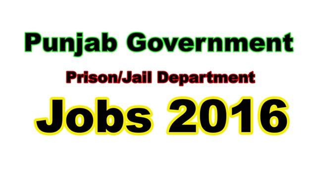 Prison Jail department Punjab Pakistan Jobs 2016
