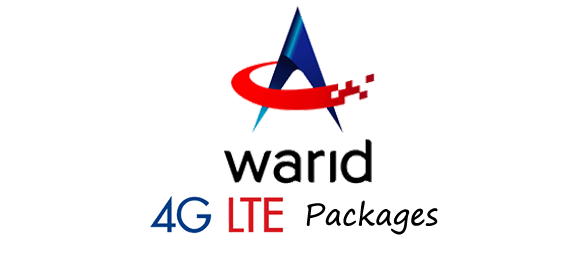 warid 4G lte post paid internet packages