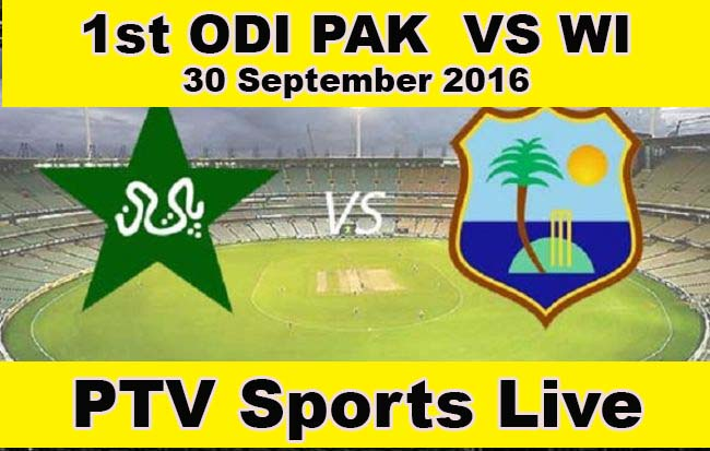 Pakistan vs West Indies (Pak v WI) 1st ODI Live Match at PTV Sports
