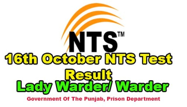 16 October NTS Result warder Jobs prison Department
