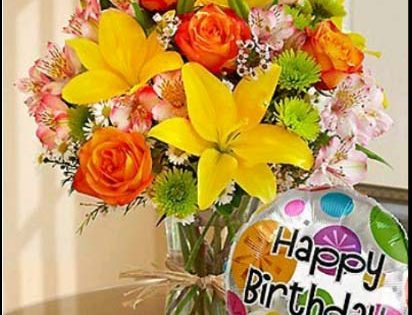 happy birthday rose flower images