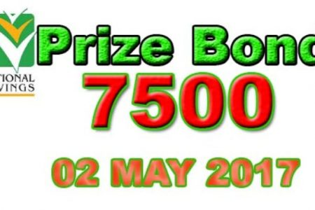Prize Bond 7500 Faisalabad Draw Result Tuesday 02 May 2017