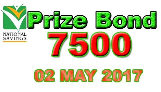 prize bond 7500 draw results 02 May 2017