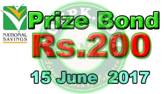 Karachi Prize bond 200 draw results national savings of Pakistan