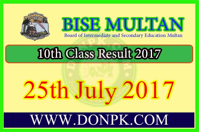 10th class result 2017 bise multan