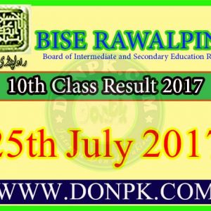 10th Class Result 2017 Bise Rawalpindi Board