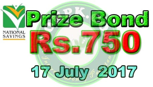check online Prize bond 750 Draw Results