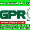 Auditor general of Pakistan FABS pifra salary slip registration for Govt Employees