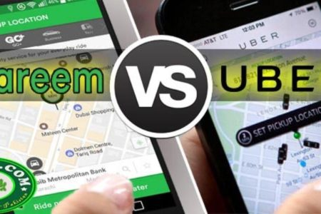 Careem Vs uber Online Taxi Service in Pakistan