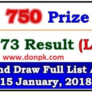 Prize bond 750 full list draw results 2018