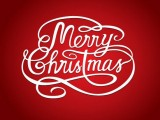 Merry christmas logo for desktop background