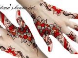 Flowery Mehndi Designs 2013