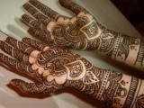 Dark Mehndi Designs Arabian Style