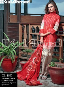 2013 lawn collection by Gul ahmed