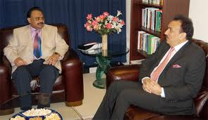 Rehman Malik and Altaf Hussain Meeting for Upcoming Elections