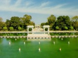 beautiful scene of shali mar garden in lahore
