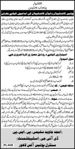 Constable and lady Constable Vacancies in Punjab Police