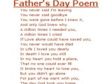 poetry on Father's Day