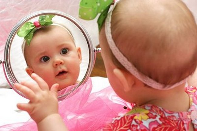 baby mirror pictures