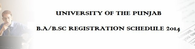 B.A / B.Sc. Registration FEE  Punjab University