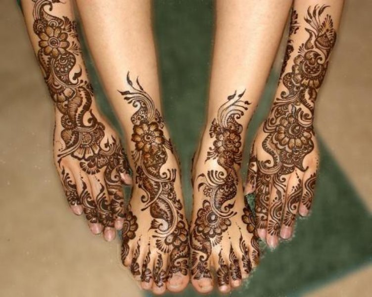 Arabic Mehndi Patterns for Hands and Feet