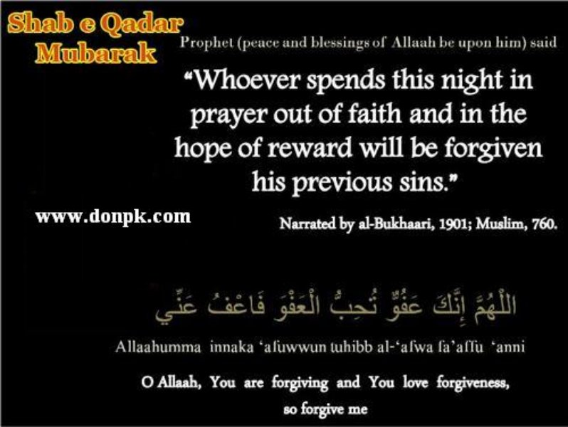 lailatul Qadar at 27th of Ramadan