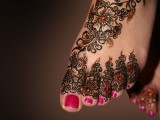 Floral Mehndi Designs for feet