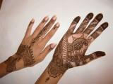 front and Back side Hand Mehndi Designs 2013