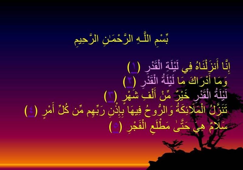 Shab e Qadar Surah