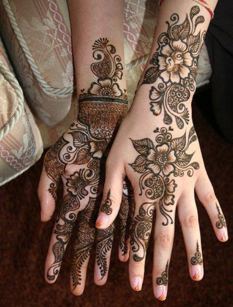 Wedding Mehndi Designs Arabic for hands
