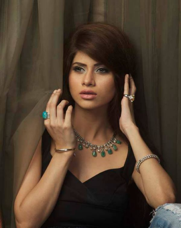 Raema Malik Gold Necklace with multiple Colors