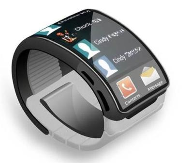 Samsung wrist Smart watch against Apple