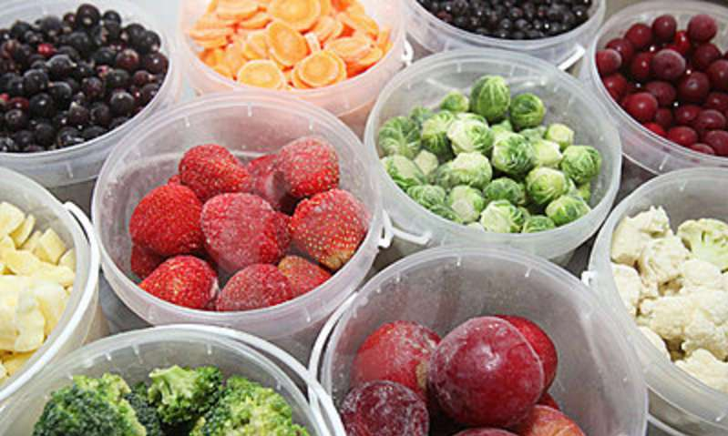 Healthy Frozen Fruits and Vegetables with Full Vitamins