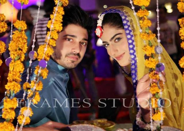 Sana khan and Babar Khan engagement pics
