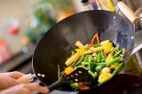 Wok Stir Frying food
