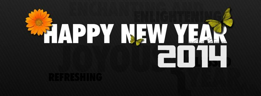 Happy New Year 2014 lovely facebook covers