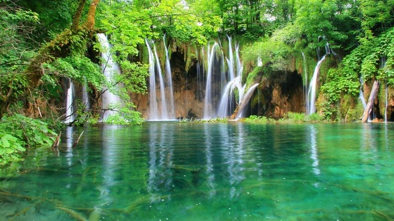 water falling from mountains wallpapers