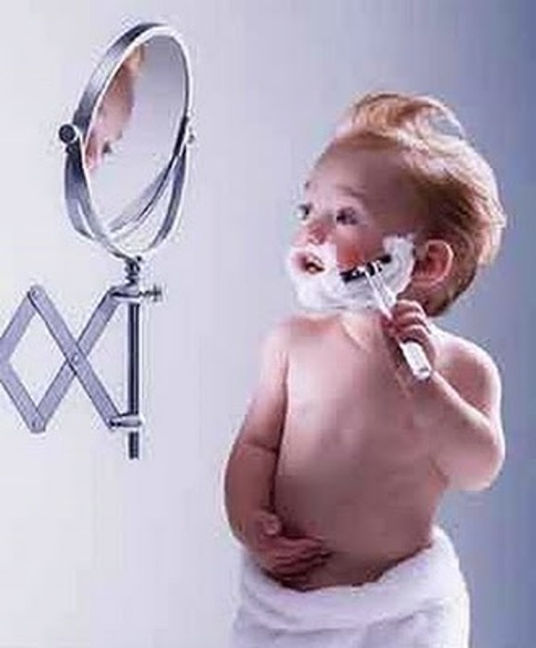 baby shaving pictures