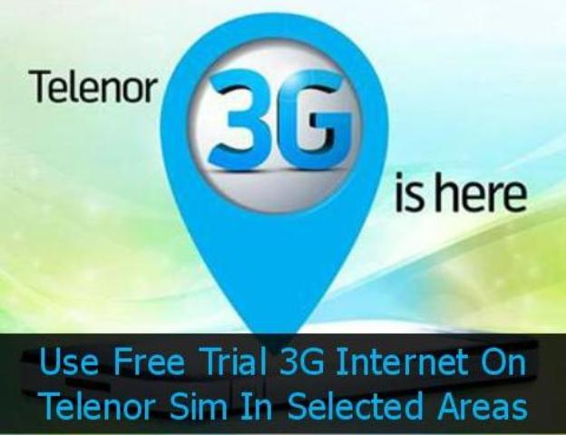how to use 3G Trial by Telenor