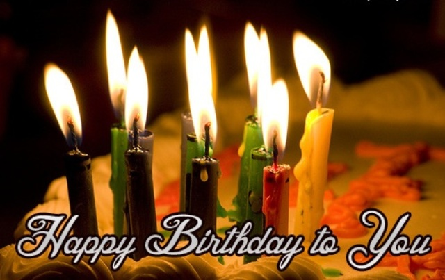 happy birthday Candle lights