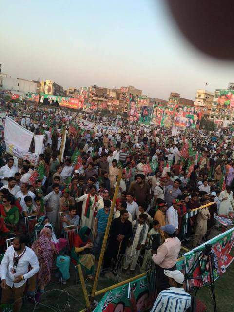 Imran Khan Jalsa Streaming at Dhobi Ghath