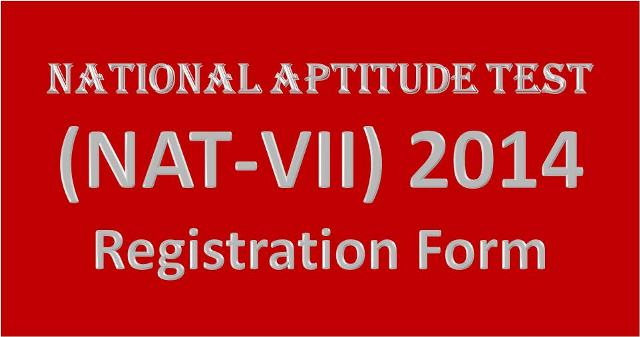 Registration Form NAT Test 2014